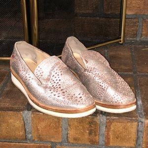 Free People Snake Eyes Metallic Leather Shoes
